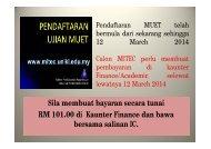 RM 101.00 di Kaunter Finance dan bawa bersama salinan IC