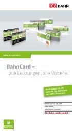 BahnCard – alle Leistungen alle Vorteile