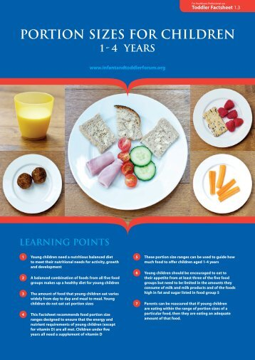 PORTION SIZES FOR CHILDREN