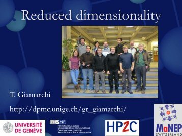 Reduced dimensionality