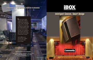 iBOX Brochure 12-30-09.fin - Community Professional Loudspeakers