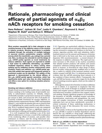 Rationale, pharmacology and clinical efficacy of partial agonists of ...