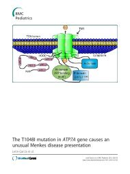 The T1048I mutation in ATP7A gene causes an ... - BioMed Central