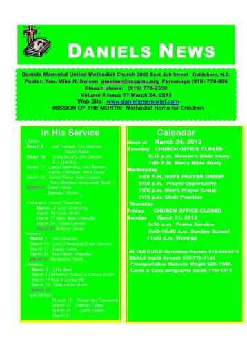 DANIELS NEWS