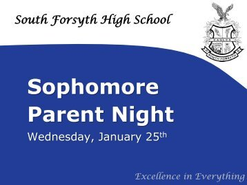 Sophomore Parent Night - Forsyth County Schools