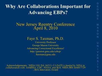 Why Are Collaborations Important for Advancing EBPs?
