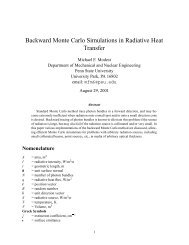 Backward Monte Carlo Simulations in Radiative Heat Transfer