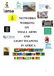 networks working on small arms and light weapons in ... - AEFJN EN