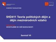 5HD411 Teorie politických dějin a dějin mezinárodních vztahů