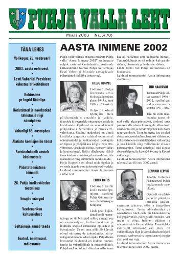 AASTA INIMENE 2002