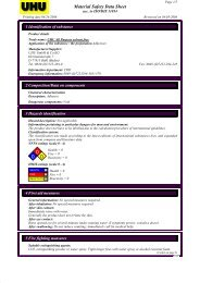 Material Safety Data Sheet - Saunders Mfg Co