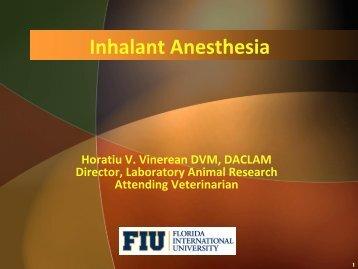 Inhalant Anesthesia