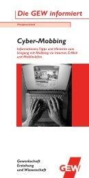 Cyber-Mobbing Die GEW informiert