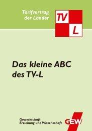 Das kleine ABC des TV-L - GEW