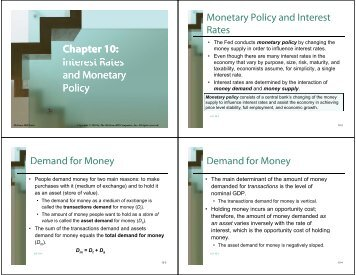 Interest Rates Interest Rates and Monetary Interest Rates and ...
