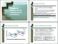 and Inflation The Business Cycle Causes of Business Cycles