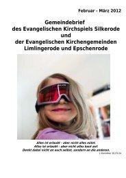 Gemeindebrief des Evangelischen Kirchspiels Silkerode und der ...