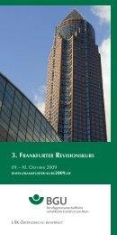 3. FRANKFURTER REVISIONSKURS 09. – 10. OKTOBER 2009 - AGA