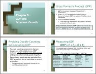 Chapter 5: GDP and p GDP and Economic Growth