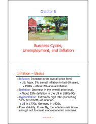 Business Cycles Unemployment and Inflation