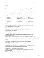 Cooleconomics: Principles of Microeconomics Final Exam