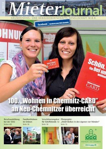 """100. """"Wohnen in Chemnitz-CARD"""" an Neu-Chemnitzer ... - GGG"""