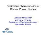 Dosimetric Characteristics of Clinical Photon Beams