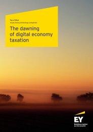 The dawning of digital economy taxation