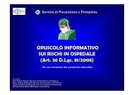 Opuscolo Informativo sui rischi in ospedale - Facoltà di Medicina e ...