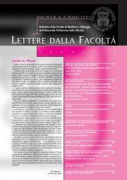 LETTERE 2005 06.pdf - Facoltà di Medicina e Chirurgia - Università ...