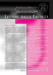 LETTERE 2006 05.pdf - Facoltà di Medicina e Chirurgia - Università ...