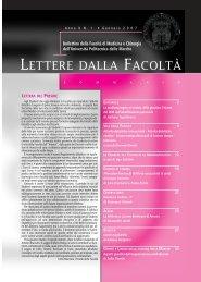 LETTERE 2007 01.pdf - Facoltà di Medicina e Chirurgia - Università ...