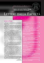 LETTERE 2004 03.pdf - Facoltà di Medicina e Chirurgia - Università ...