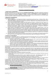 Convenzione con Santander Consumer Bank 1) OGGETTO DELLA ...