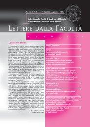 4.lettere della Facoltà luglio-agosto2012.pdf - Facoltà di Medicina e ...