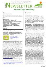 Newsletter Herstellung & Verarbeitung 01-2011 - Gäa