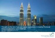 Peninsular Malaysia's electricity sector - The Lantau Group