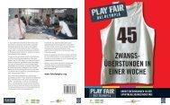 Play Fair bei Olympia - Erklärung von Bern