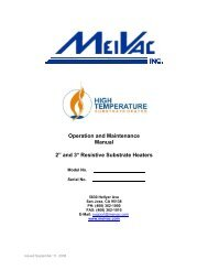 2″ and 3″ Substrate Heater Manual - MeiVac, Inc