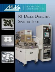 RF DIODE DIELECTRIC SPUTTER TOOL