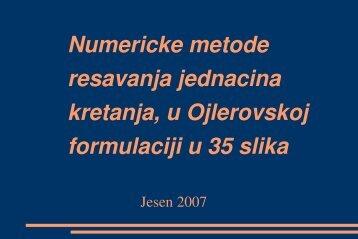 Numeričke metode rešavanja jednačina kretanja