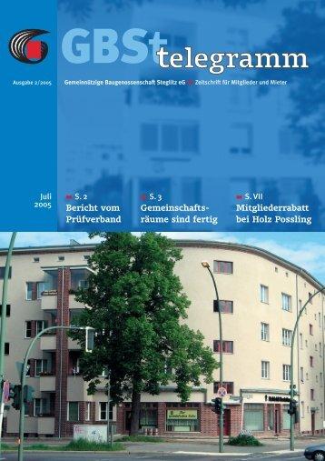 Holz Possling - Gemeinnützige Baugenossenschaft Steglitz eG