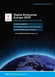 Digital Enterprise Europe 2013