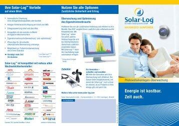 Energie ist kostbar. Zeit auch. - jms Solar Handel GmbH