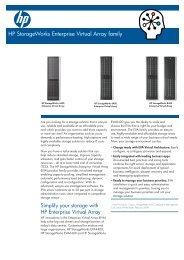 HP StorageWorks 4400 Enterprise Virtual Array family data sheet