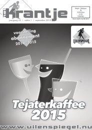 krantje 42-1 Tejaterkaffee 2015 + voorstelling nieuw seizoen