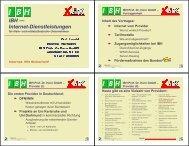 IBH — Internet-Dienstleistungen - bei der IBH IT-Service GmbH