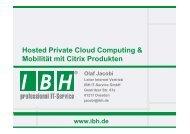 Cloud Computing - bei der IBH IT-Service GmbH