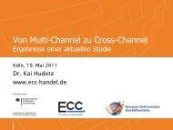 Kanals für das Unternehmen Umsatz des Internet - ECC Handel