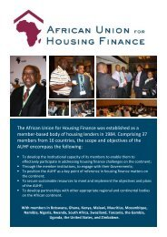 Download AUHF Brochure - African Union for housing finance